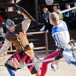 Lovagi torna Visegrádon a Salamon-toronyban