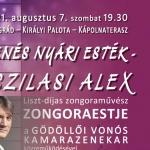 Nyári koncert Gödöllő 2021. Zenés nyári est Visegrádon