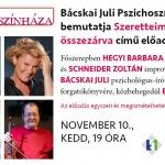 Bácskai Juli Pszichoszínháza előadások 2020