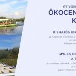 Tisza-tavi csónaktúrák GPS navigációs készülékkel a poroszlói Tisza-tavi Ökocentrumban