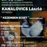 """Kiállítás Székesfehérvár 2020. """"Kezemben ecset"""" című kiállítás a Köfém Művelődési Házban"""