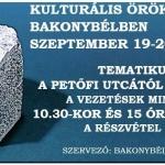 Kulturális Örökség Napjai Bakonybél 2020
