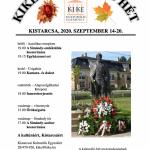 KIKE Kulturális Hét 2020. A Kistarcsai Kulturális Egyesület őszi rendezvénysorozata