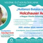Híres emberek Balatonfüred 2020. Velünk élő kiválóságaink programsorozat a Zsidó Kiválóságok Házában