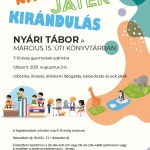 Nyári tábor Veszprémben a Március 15. úti Könyvtárban: KALAND - KIRÁNDULÁS - JÁTÉK