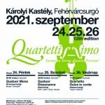 Quartettissimo Európai Vonósnégyes Fesztivál 2021 Fehérvácsurgó, Károlyi Kastély