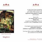 Egri Érseki Palota időszaki kiállítás 2021. Platthy György kamarakiállítás
