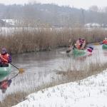Hévízi patak túra, evezés kenukkal a Hévízi-csatornán