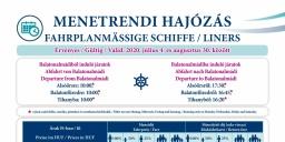 Hajókirándulás és hajózás Balatonalmádiból menetrendi járatokkal 2020