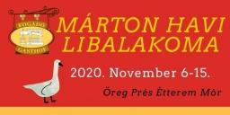 Márton-napi libalakoma novemberben a móri Öreg Prés Étteremben 2020