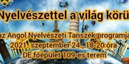 Kutatók Éjszakája Debrecen 2021. Nyelvészettel a világ körül