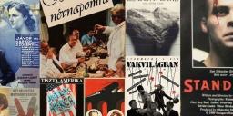Magyar filmplakát kiállítás magyar filmplakátokból a Nemzeti Filmtörténeti Élményparkban