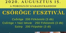 Csöröge fesztivál 2020 Poroszló