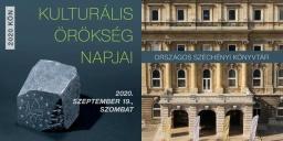Kulturális Örökség Napok Budapest, Országos Széchényi Könyvtár 2020