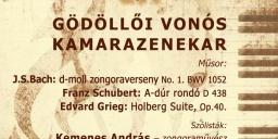 Kamarazenekari koncert a Gödöllői Szimfonikus Zenekar előadásában a Régi Zeneakadémián