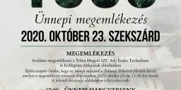 Október 23 Szekszárd 2020. Városi ünnepség az 56-os Forradalom és Szabadságharc emlékére