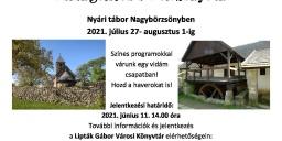 Könyvtári táborok a balatonfüredi Lipták Gábor Városi Könyvtár szervezésében