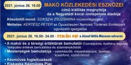 Makó Múzeumok Éjszakája 2021. József Attila Múzeum