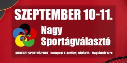 Nagy Sportágválasztó 2021 Budapest