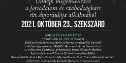 Október 23 Szekszárd 2021. Ünnepi megemlékezés