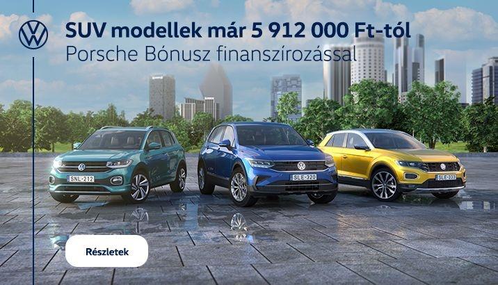 Milyen autót vegyek?  SUV modellek már 5 912 000 Ft-tól Porsche Bónusz finanszírozással