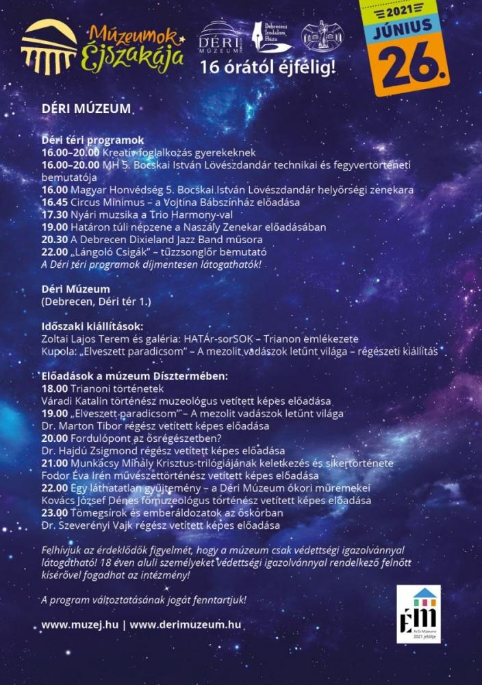 Múzeumok Éjszakája Déri Múzeum 2021 Debrecen
