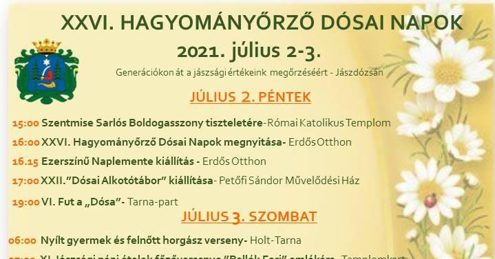 Dósai Napok 2021 Jászdózsa