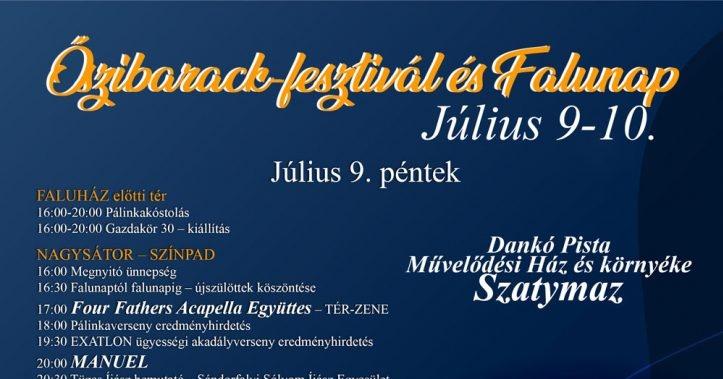 Őszibarack Fesztivál és Falunap Szatymaz 2021