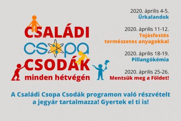 Óbudai családi programok 2020. Családi Csopa Hétvégék
